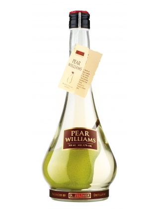 Pear brandy WILLIAMS with a pear inside