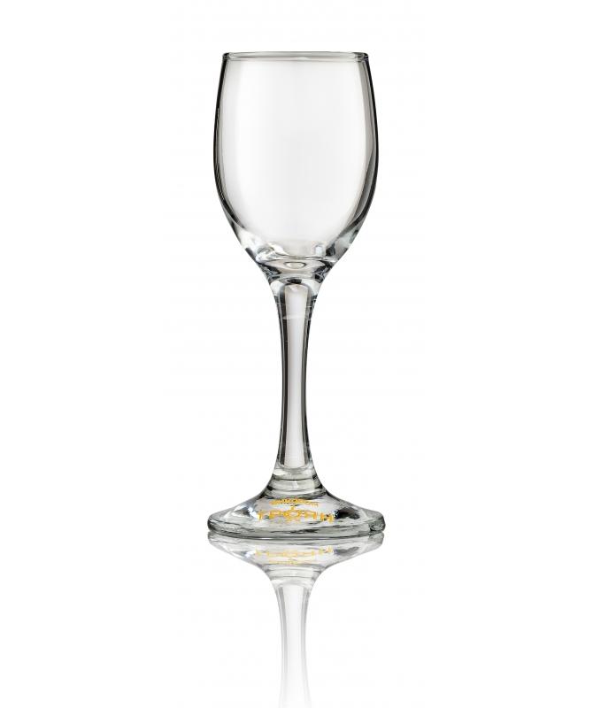 Стъклена чаша със столче 125 мл.